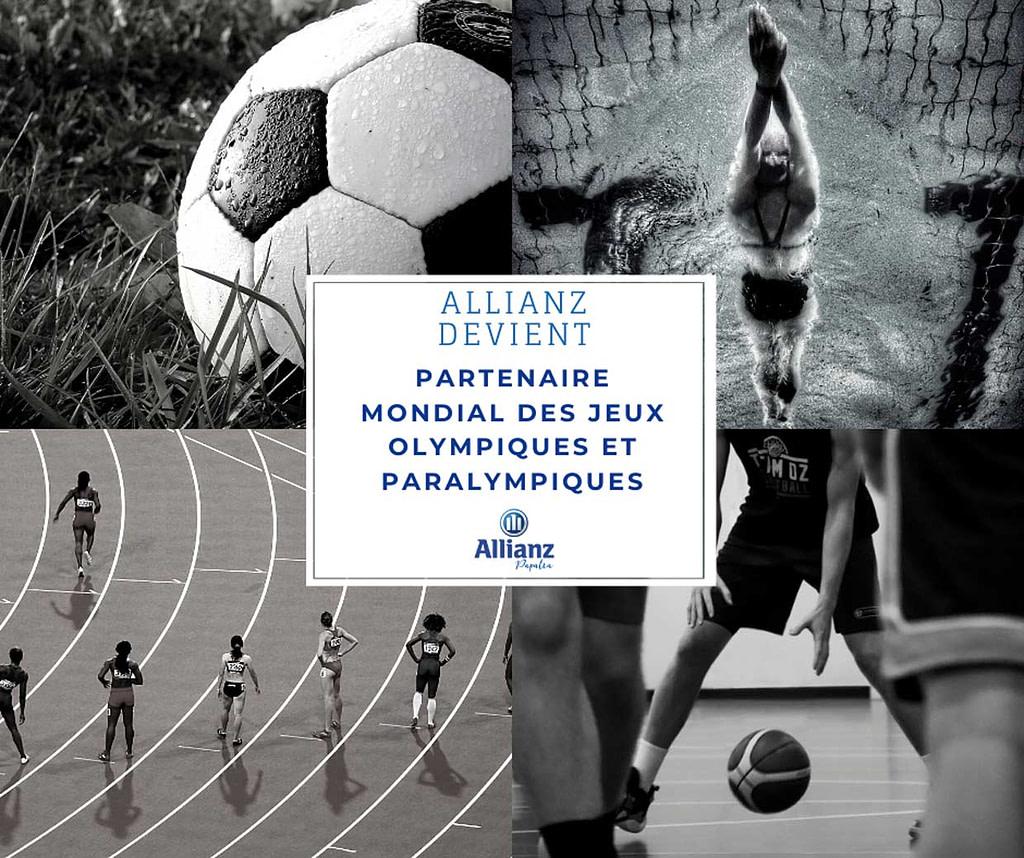 Allianz est partenaire mondial des Jeux Olympiques et Paralympiques.